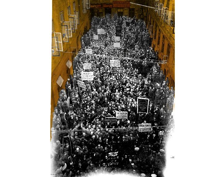 הפגנה של חברי הבונד בורשה, תחילת שנות השלושים של המאה העשרים. זכויות: איוו, ניו יורק