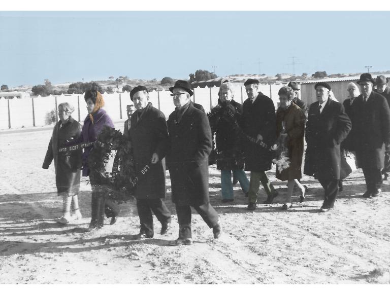 מסע הלוייה של ארטוסקי. דצמבר 1971, בית העלמין בחולון